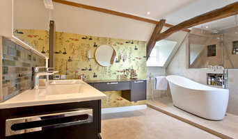 Large master bathroom with dressing area
