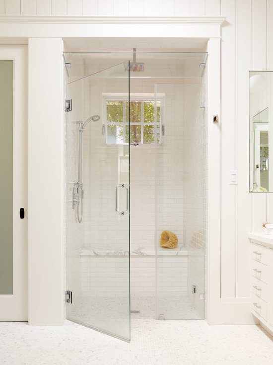 White Tile Shower Houzz