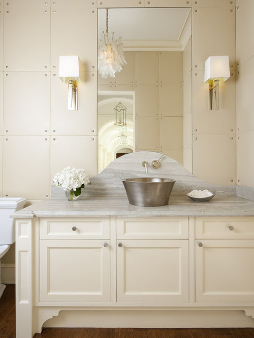 Inspiration For A Timeless Bathroom Remodel In Dallas With A Vessel Sink
