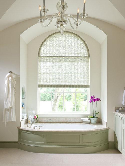 Arch Window Treatment Houzz - Window treatment bathroom