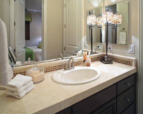 Tile Countertop Bathroom Home Design Ideas Pictures Remodel And Decor