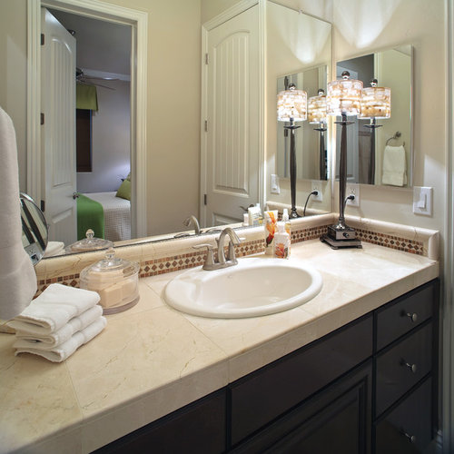 Contemporary Bathroom Countertops tile countertop bathroom | houzz