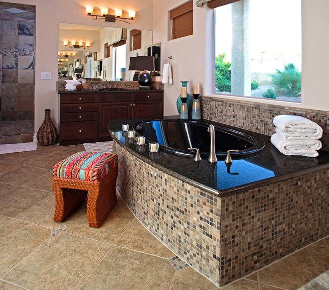 Eclectic Bathroom by Gates Interior Design