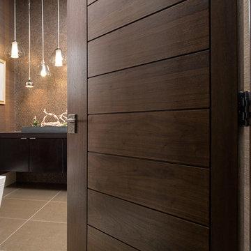 Las Vegas Modern Home - Interior Solid Wood Walnut Door