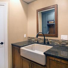 Traditional Bathroom by HomeFront Interior Design