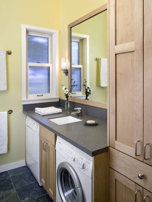 Bathroom washing machine houzz for Small bathroom designs with washing machine