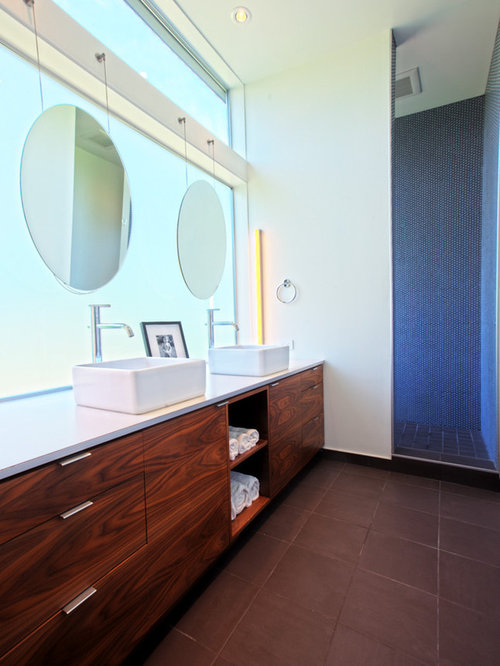 Bathroom Mirrors Over Windows mirrors hung over windows | houzz
