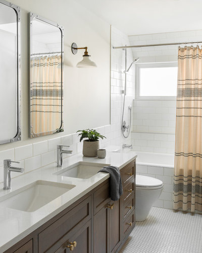Transitional Bathroom by Ore Studios
