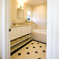 traditional bathroom by Lauren Brandwein