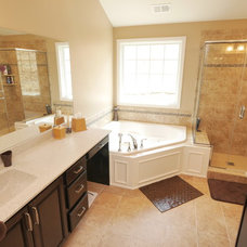 Transitional Bathroom by Costa Homebuilders