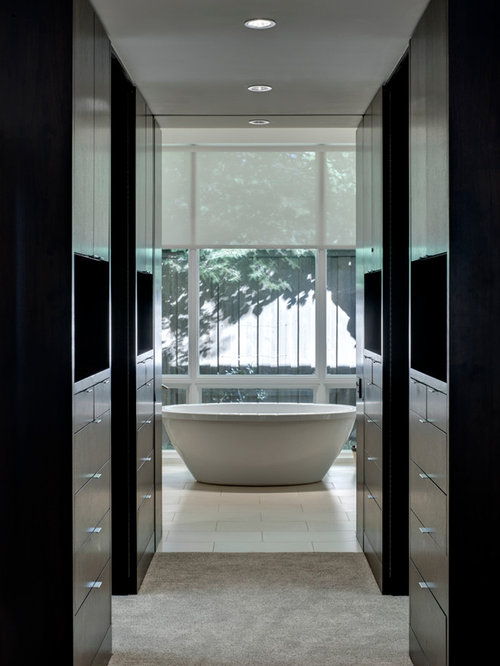 Perfect Example Of A Trendy Bathroom Design In Dallas With A Freestanding Tub Nice Ideas