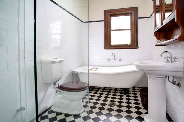 Traditional Bathroom by POC+P architects