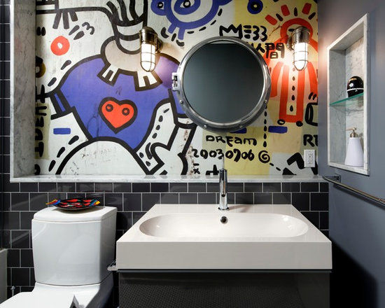 Bathroom Wall Graffiti graffiti tile | houzz