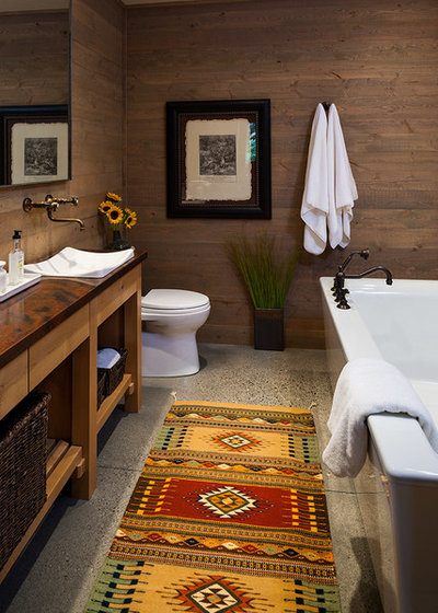 Rustic Bathroom by Dovetail Construction