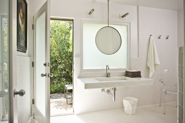Contemporary Bathroom by HoneeDo This'n That, Inc/Southwest Tile & Marble