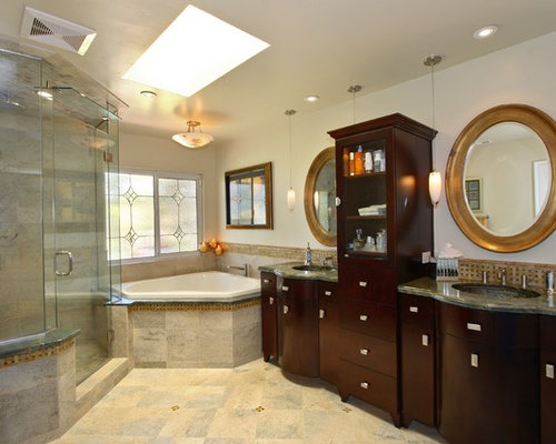 Corner tub houzz for Master bathroom jacuzzi