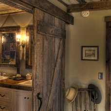 Rustic Bathroom by Lands End Development - Designers & Builders