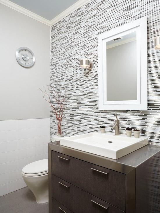 Half Bath Tile Houzz  100  ideas Pictures Of Modern Small Half Bathrooms Designs on  . Contemporary Half Bath Designs. Home Design Ideas