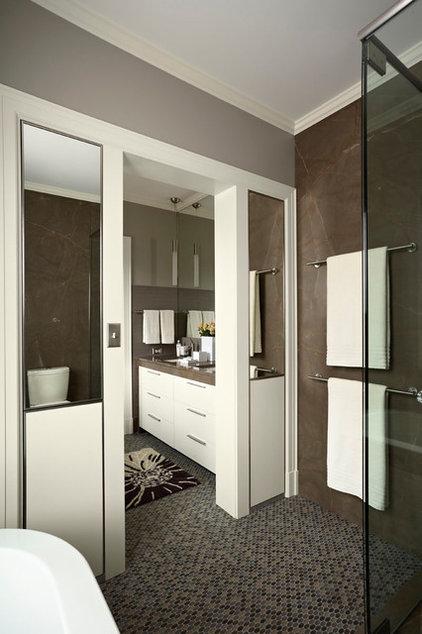 Modern Bathroom by Ingrained Wood Studios: The Lab