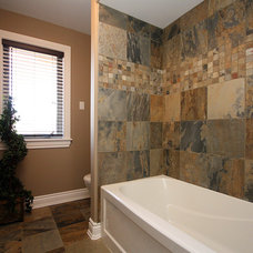 Traditional Bathroom by Masterplan Residential Drafting and Design