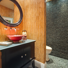 asian bathroom by Catherine Monaghan of Kitchens Southwest