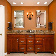 traditional bathroom by Lensis Builders, Inc.