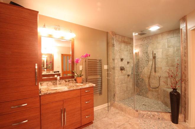 Eclectic Bathroom by Leo Lantz Construction, Inc.