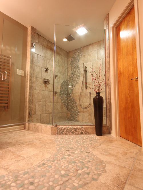river rock bathroom ideas pictures remodel and decor