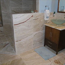Beach Style Bathroom by Travertine Warehouse