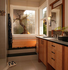 asian bathroom by Signature Design & Cabinetry LLC