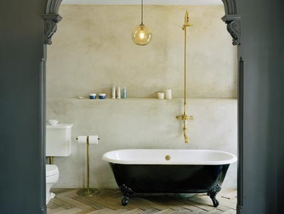 Eclectic Bathroom by Ken Levenson Architect P.C.