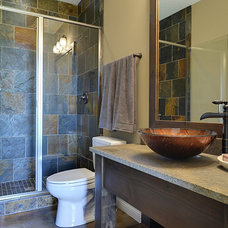 Transitional Bathroom by The Cabinet Shoppe