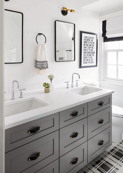 Transitional Bathroom by Michelle Ann Designs