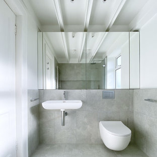 This is an example of a modern bathroom in Other.