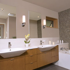 Contemporary Bathroom by Masterson Studio