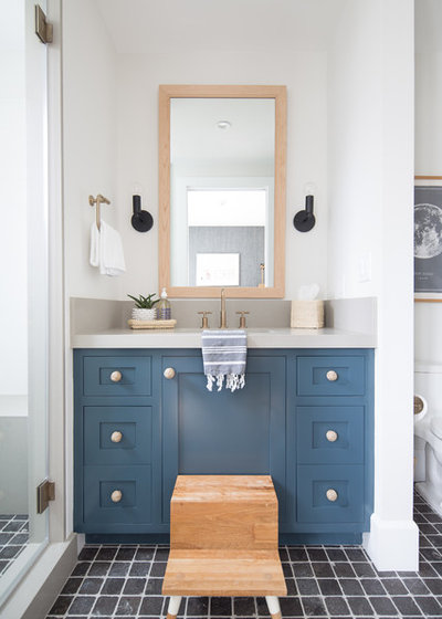 Coastal Bathroom by Matt White Custom Home