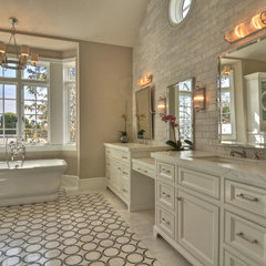 contemporary bathroom by Venetian Stone Gallery