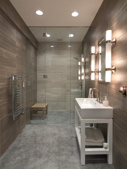 Concrete Floor Bathroom Home Design Ideas Renovations