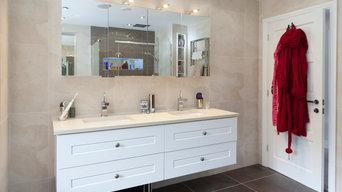 Light Beige Bathroom, Designed By Simon Tristram