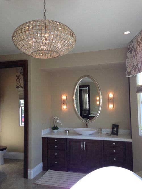 Luxury bathroom lighting houzz example of a classic bathroom design in san diego aloadofball Choice Image