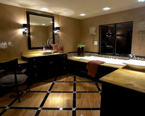 Black and tan bathroom home design ideas pictures for Tan and black bathroom ideas