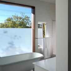 Modern Bathroom by Constructive General Contractors