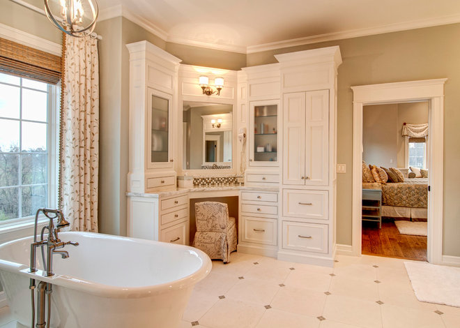Traditional Bathroom by Farinelli Construction Inc