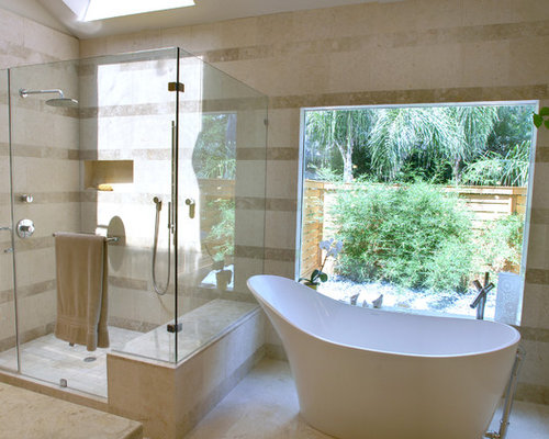 Inspiration for a contemporary freestanding bathtub remodel in Houston. 10 All Time Favorite Houston Bathroom Ideas   Remodeling Photos