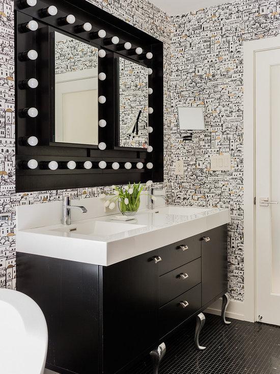 Wallpaper In Bathroom Houzz