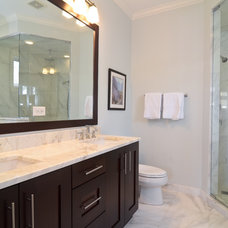 Transitional Bathroom by Leslie Glazier @ Properties