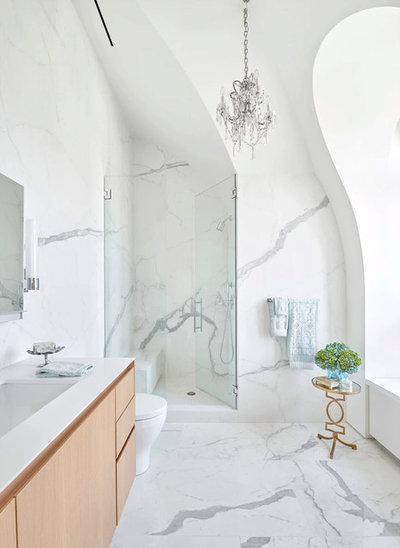 Transitional Bathroom by Ruth Johnson Interiors