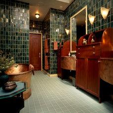 Eclectic Bathroom by Alan Design Studio