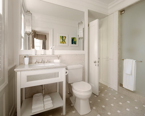 homes design ideas. Inspiration for a timeless 3 4 alcove shower remodel in Chicago with an  undermount sink Home Design Ideas Pictures Remodel and Decor