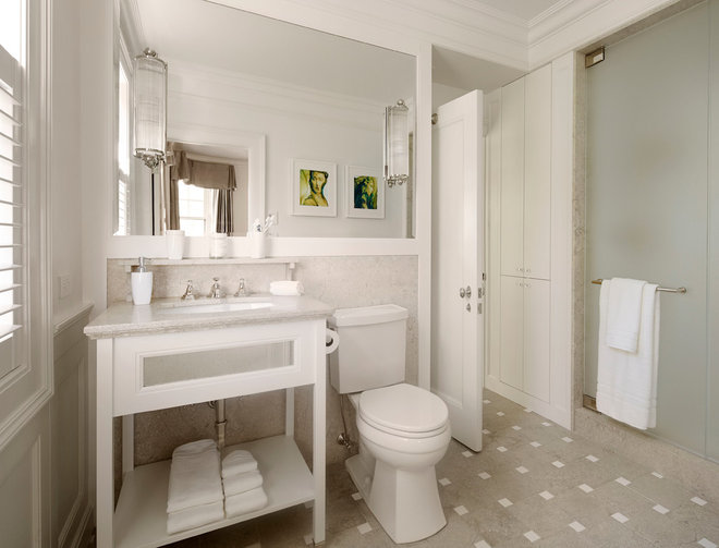 Traditional Bathroom by Eva Quateman Interiors